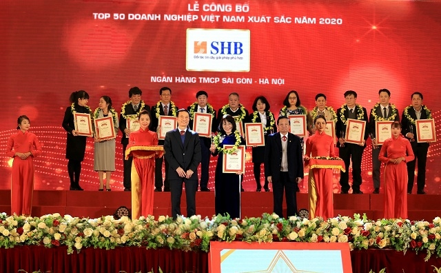SHB được vinh danh top 50 doanh nghiệp xuất sắc nhất Việt Nam