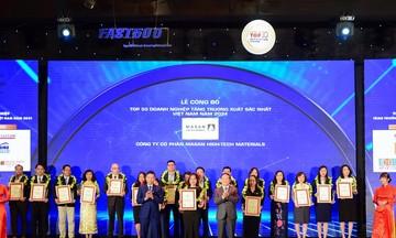 Masan High-Tech Materials năm thứ 3 liên tiếp được vinh danh Top 50 doanh nghiệp tăng trưởng xuất sắc nhất Việt Nam