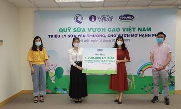 Vinamilk và Quỹ sữa Vươn cao Việt Nam năm 2021 trao tặng 1,7 triệu ly sữa hỗ trợ trẻ em khó khăn giữa dịch Covid-19