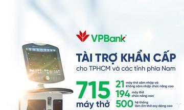 VPBank hỗ trợ gấp715 máy hỗ trợ hô hấp hiện đại cho các tỉnh, thành phía Nam