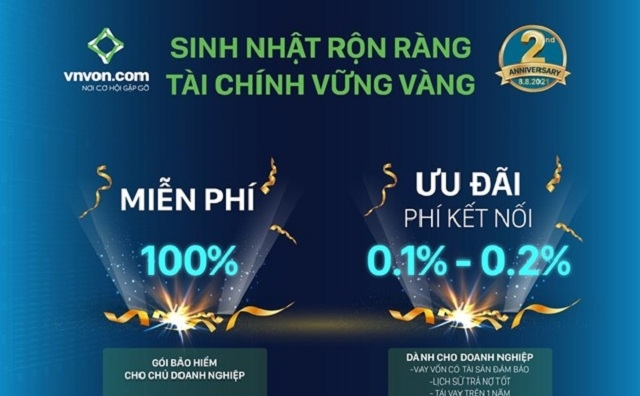 Mừng sinh nhật, sàn VNVON chi nhánh TP Hồ Chí Minh tung ưu đãi hấp dẫn
