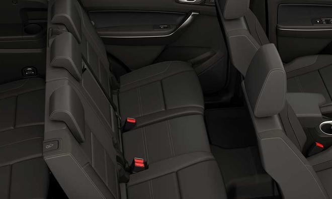 """<p class=""""Normal""""> <strong>7. Thoải mái Tối đa:</strong> Mọi phiên bản của Ford Everest tại Việt Nam đều được trang bị bảy chỗ ngồi với không gian nội thất được thiết kế thông minh để mang đến cho chủ xe mọi thứ cần thiết cùng cảm giác thoải mái. Với hàng ghế thứ ba gập điện trên phiên bản Titanium, việc chuyển đổi công năng giữa không gian dành cho hàng hóa và hành khách trở nên vô cùng dễ dàng.</p>"""
