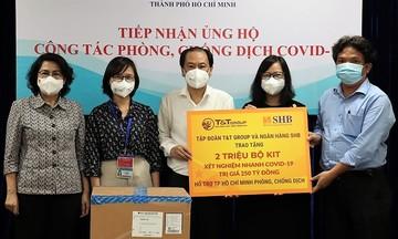 T&T Group và Ngân hàng SHB trao tặng TP Hồ Chí Minh 2 triệu bộ kit xét nghiệm nhanh COVID-19 trị giá 250 tỷ đồng