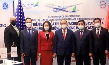 """""""Cú bắt tay"""" 2 tỷ USD giữa Bamboo Airways và GE Aviation"""