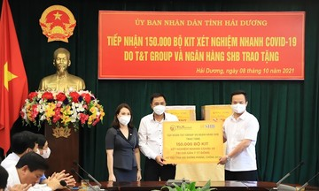 T&T Group và SHB hỗ trợ tỉnh Hải Dương 150.000 bộ kit xét nghiệm nhanh trị giá gần 7 tỷ đồng